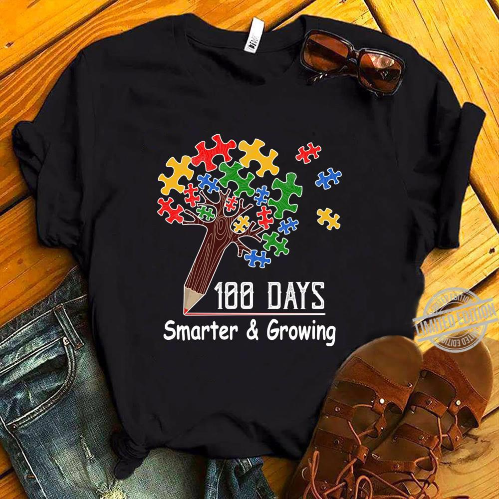 100 days smarter and growing shirt