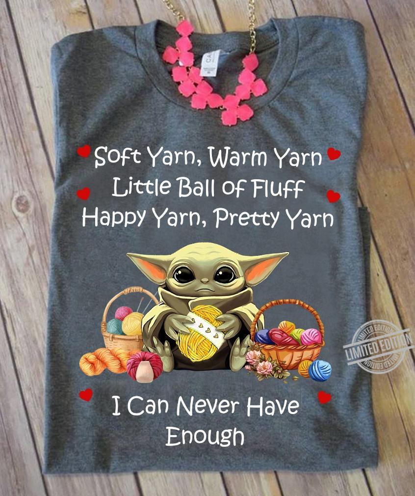 Baby Yoda Soft yarn warm yarn little ball of fluff happy yarn pretty yarn shirt