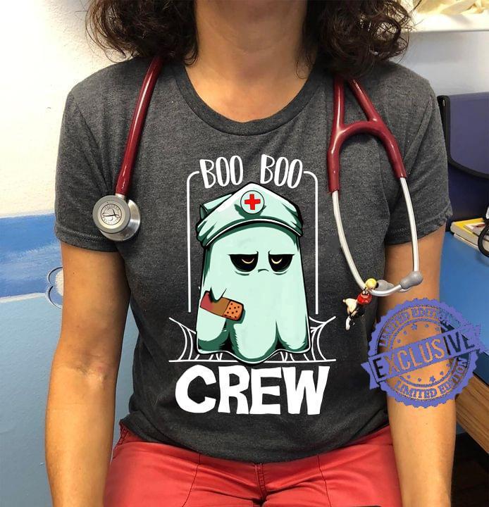 Boo Nurse Boo boo crew shirt