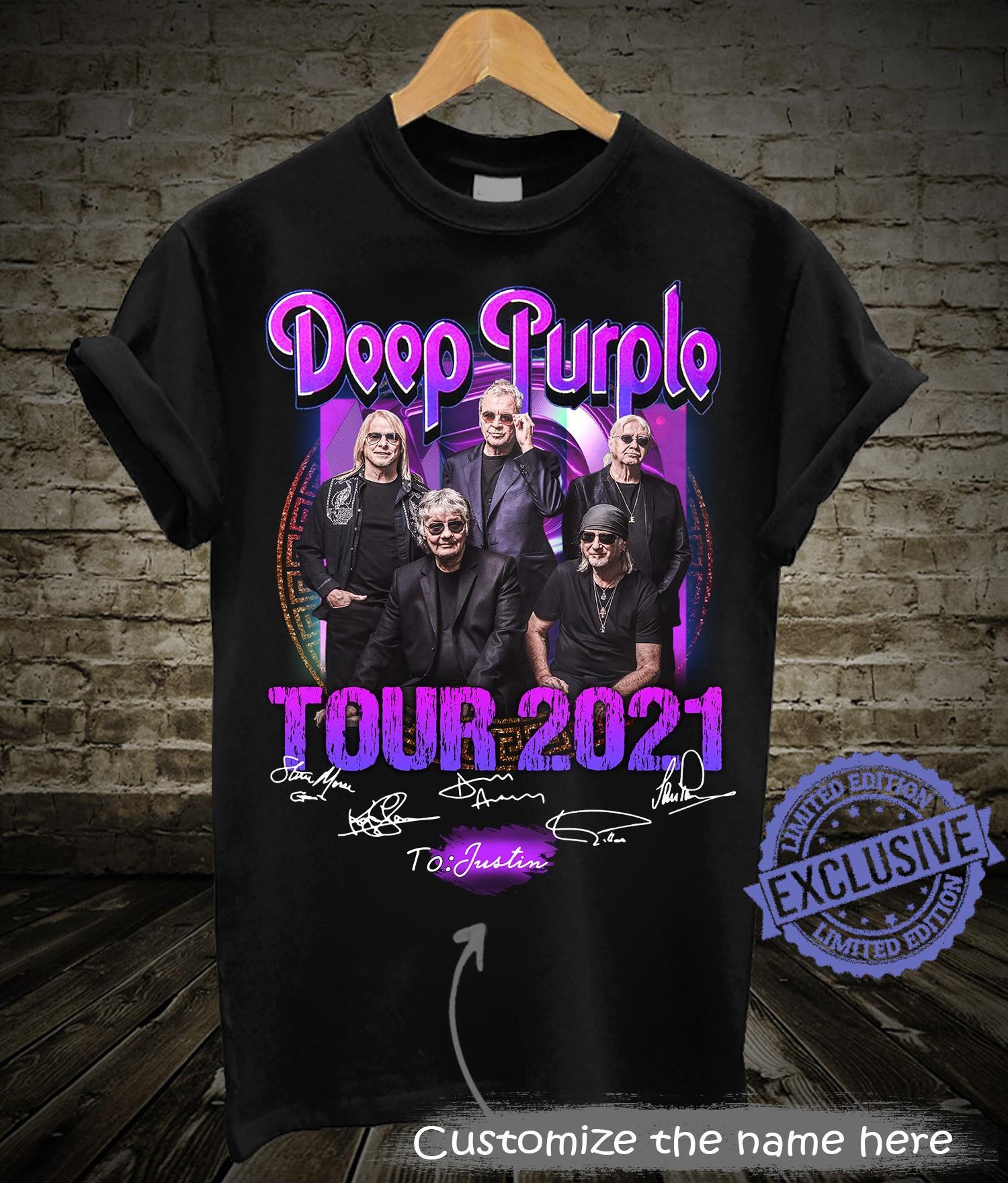 Deep purple tour 2021 shirt