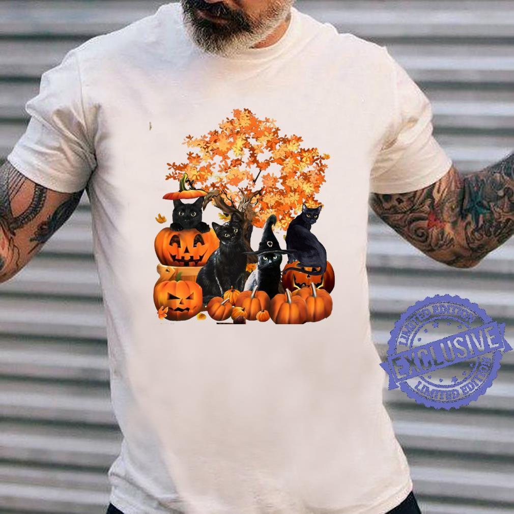 Four cats halloween shirt long sleeved