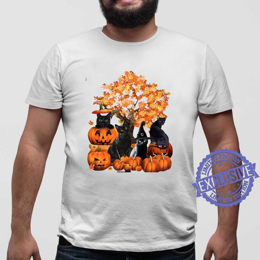 Four cats halloween shirt sweater