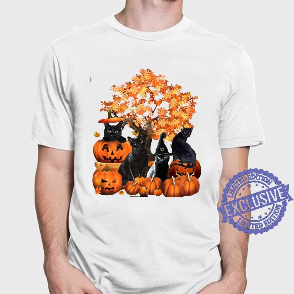 Four cats halloween shirt