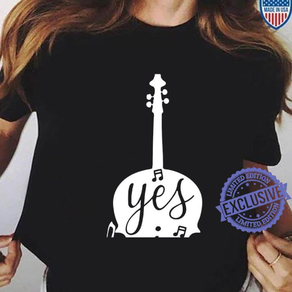 Guitar Yes i speak cello shirt ladies tee