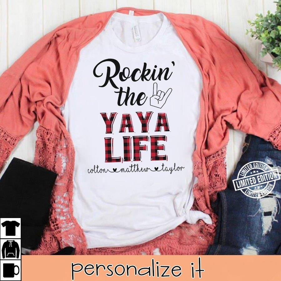 Rockin the Ya Ya Life Cotton Mather Taylor shirt