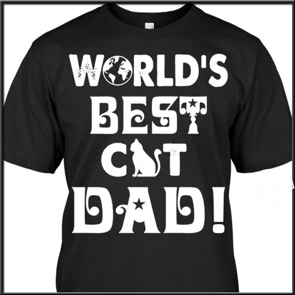 World's best cat dad shirt